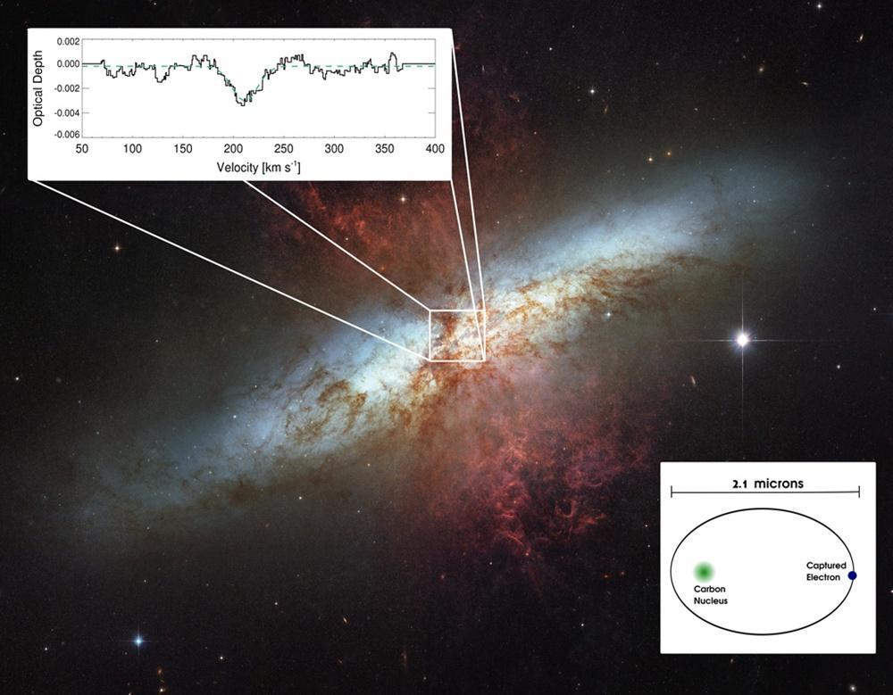 Το LOFAR ανακαλύπτει το μεγαλύτερο άτομο άνθρακα έξω από το γαλαξία μας
