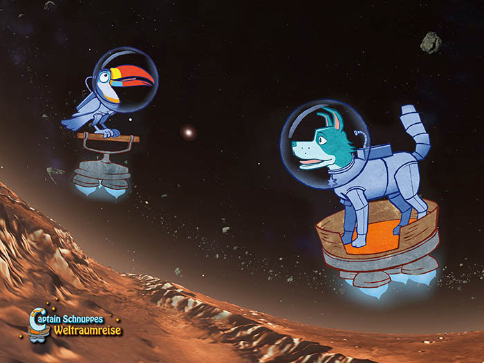 Captain Snoopy and the space travel